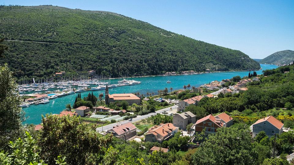 Yachts in a harbor in Croatia