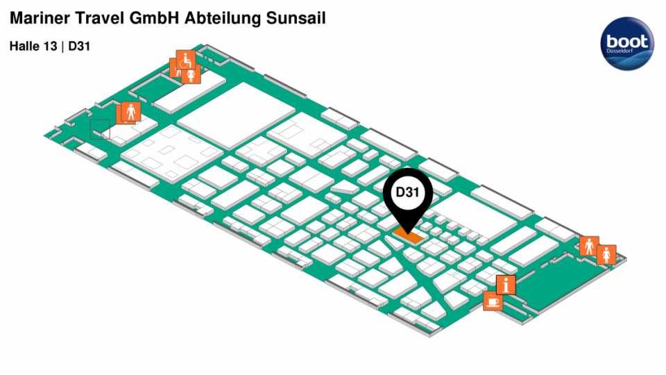 Dusseldorf boat show plan