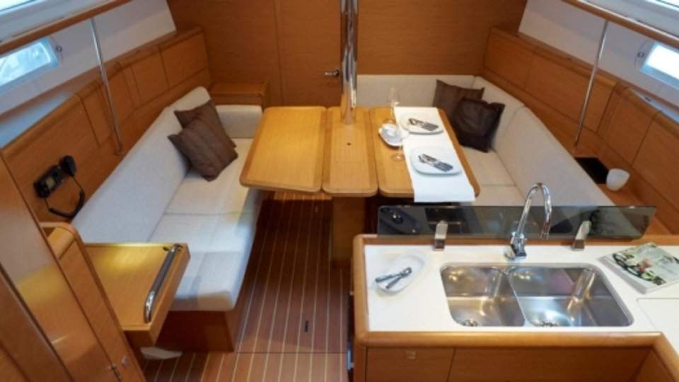Sunsail 38 interior
