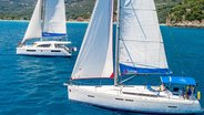 Sunsail Yachts Sailing Around Corfu Island Greece