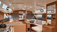 42.3 monohull saloon kitchen and living room