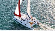 Sunsail Lagoon 464 at sail